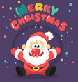 funny cartoon santa claus vector image