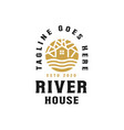 golden river house logo template vector image vector image