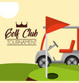golf club tournament red flag on course vector image vector image