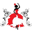 Graphic silhouette of a woman Isabelle series vector image vector image