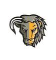 half bull half lion head mascot vector image vector image