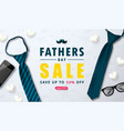 happy father s day sale web banner with tie vector image vector image