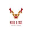 head bull geometric style logo design vector image vector image