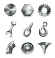 industry set icons vector image