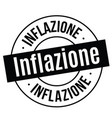 inflation stamp on white vector image