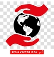 International Care Hands Eps Icon vector image vector image