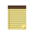 linear notes in a flat style vector image vector image