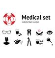 Medical set 11 symbols of health and medicine vector image