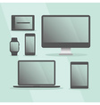 Modern Digital Devices set with black frames vector image