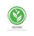 nature green leaves concept logo design organic vector image