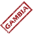 New Gambia rubber stamp vector image vector image