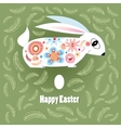 Ornamental Easter bunny vector image vector image