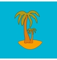 Palm sign pattern 2 vector image vector image