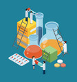 pharmaceutical production composition isometric vector image vector image
