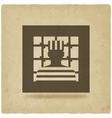 prisoner in jail justice symbol old background vector image