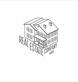 real estate isometric logo icon for web design vector image