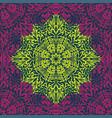 retro color boho floral pattern frame vector image vector image