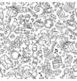seamless doodles valentines pattern vector image vector image