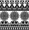 Seamless Polish folk art black pattern Wycinanki K vector image vector image
