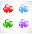 set of isolated sheaf colored balloons vector image