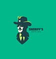 sheriff logo vector image vector image