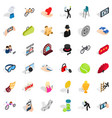 spam icons set isometric style vector image vector image