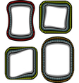 steel techno round corner frame with shadow vector image vector image