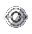 sticker of gear abstract art deco emblem vector image