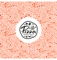 Stock pizza cover for boxes vector image vector image