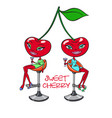 sweet cherry girls vector image