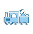 train with rubber duck toy icon vector image vector image