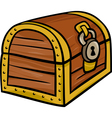 treasure chest clip art cartoon vector image vector image