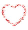 valentine heart frame vector image vector image