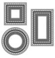 Vintage Frames Isolated vector image vector image