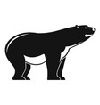 watching polar bear icon simple style vector image vector image