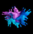 water splash blue paint realistic 3d vector image