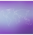 World map on abstract blurred background vector image