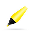 yellow highlighter pen design on white background vector image