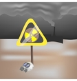 Yellow sign on the pollution of environment vector image