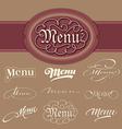 menu headlines