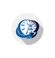 24 hours-a-day interface icon 3d clock Time is vector image vector image