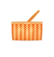 a wicker basket vector image vector image