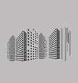 abstract panorama building on street in city vector image vector image