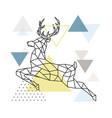 abstract polygonal deer flying reindeer vector image vector image