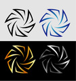 Aperture in different colors vector image