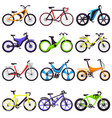 bicycle bikers cycle biking transport with vector image