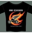 biker t shirt template vector image vector image