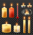 candle fire wax candles for xmas party romantic vector image