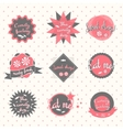 Candy labels pastry shop vector image