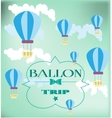 Card with balloons vector image